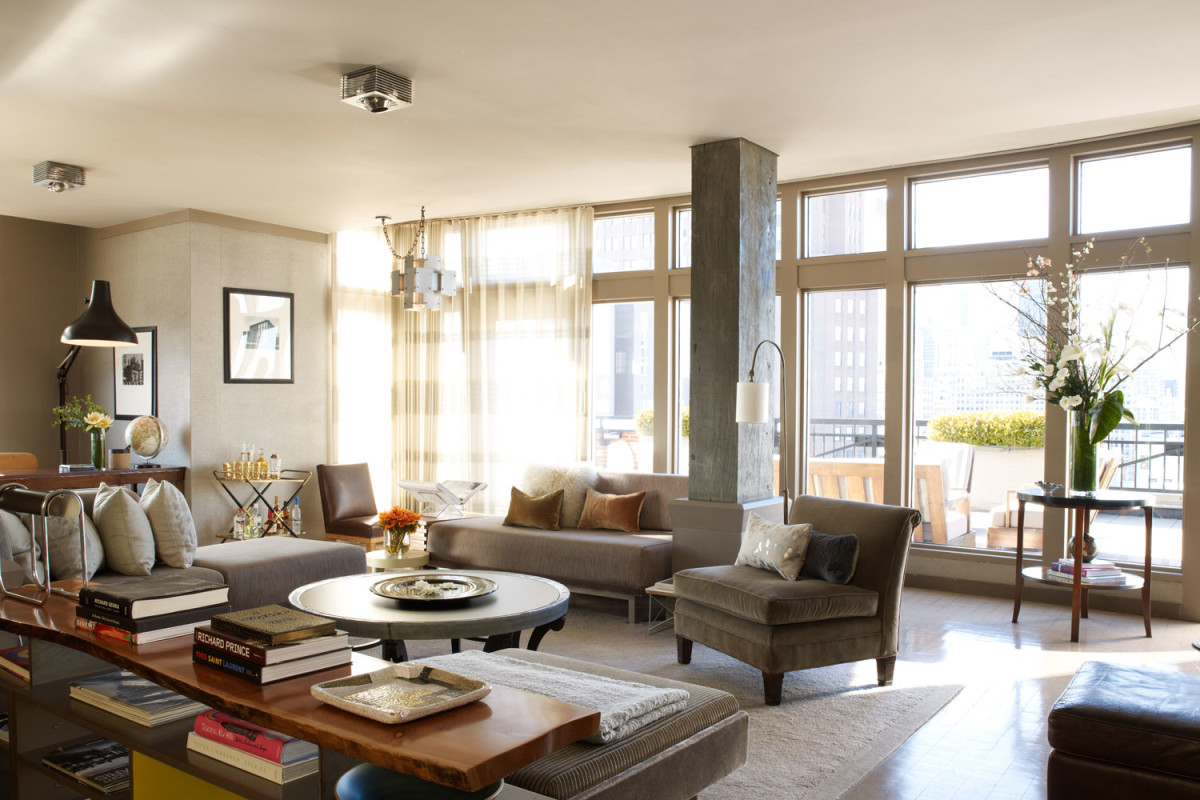 Nyc 39 s hottest penthouse designers signature travel style for Living room york
