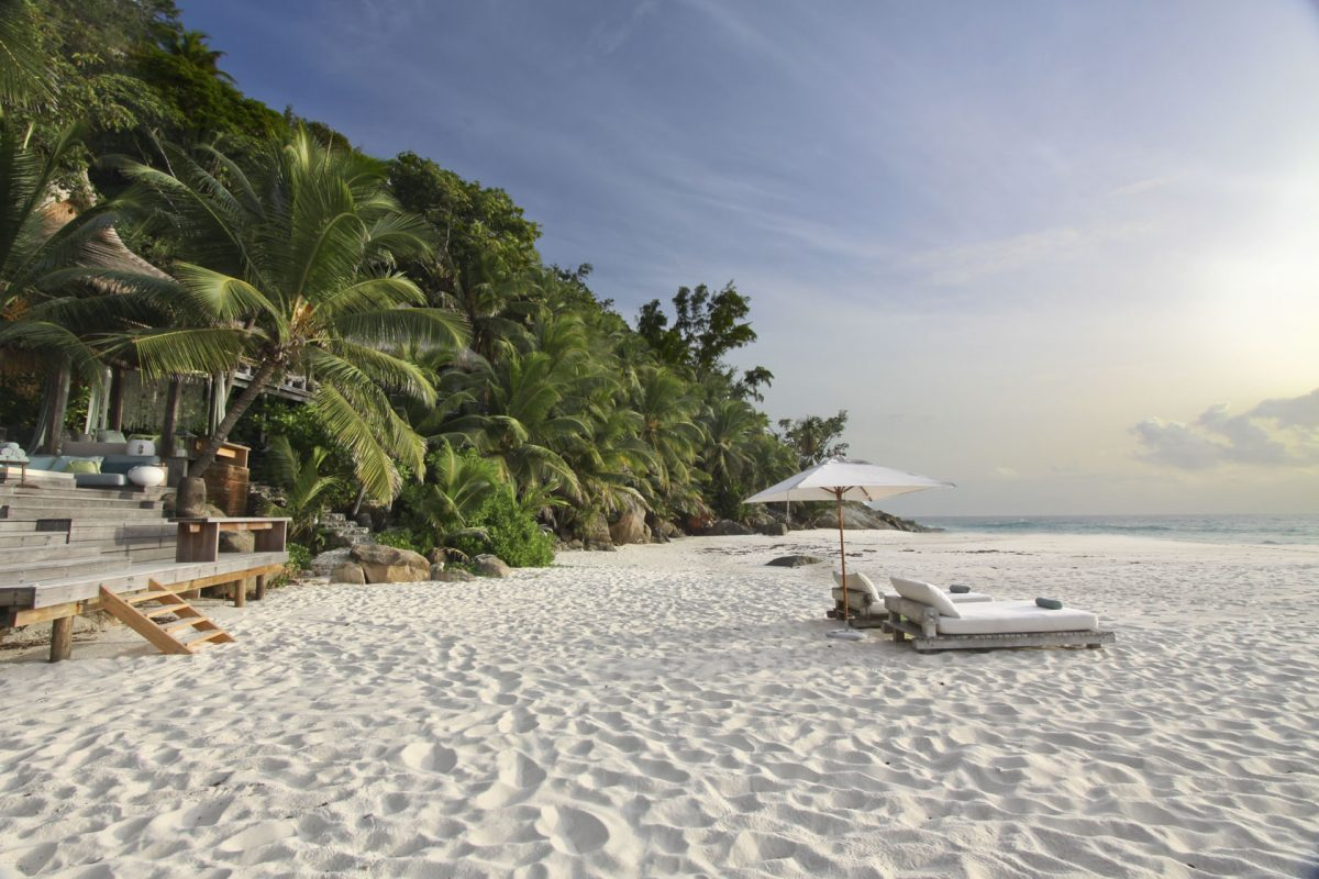 Enjoy your own private beach on your Seychelles honeymoon.