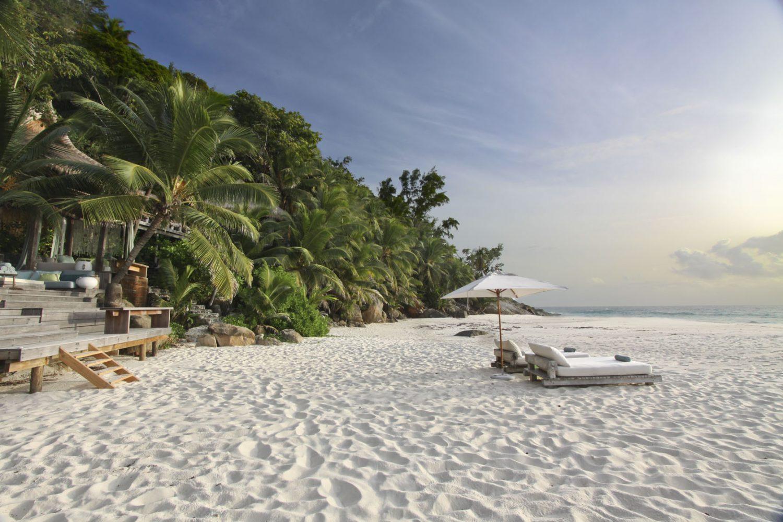 Enjoy your own private beach on your Seychelles honeymoon.