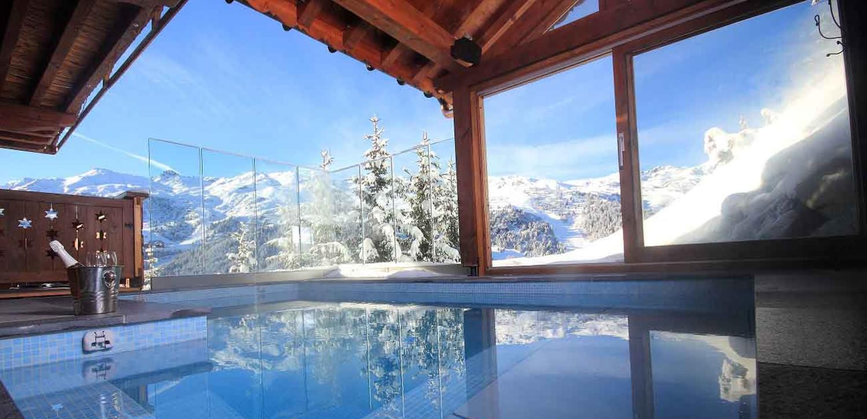 Three valleys chalet genepi pool